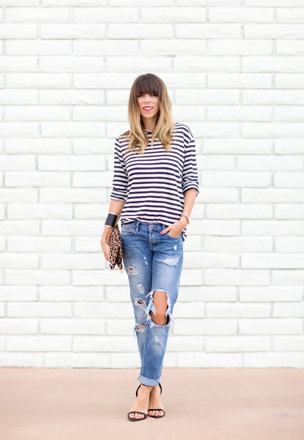 Dress Up Ripped Jeans