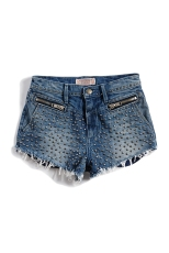 GUESS Originals Iconic Denim Studded Shorts $79.50