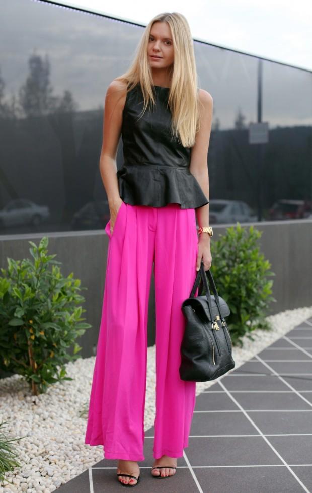 la-modella-mafia-Models-Off-Duty-street-style-Spring-2012-Neon-hot-pink-pants1-1024x1617