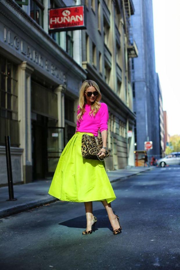 neon-full-midi-skirt-street-style