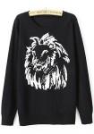 black-lion-print-pullover